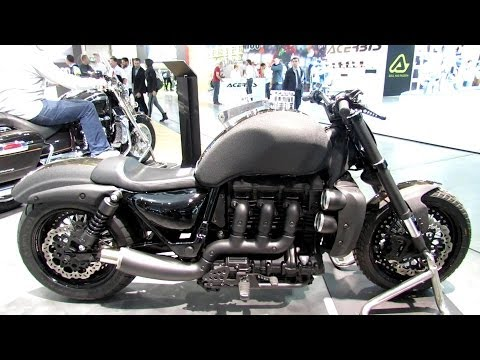 2014 Triumph Rocket III U-Boat Walkaround - 2013 EICMA Milano Motorcycle Exhibition