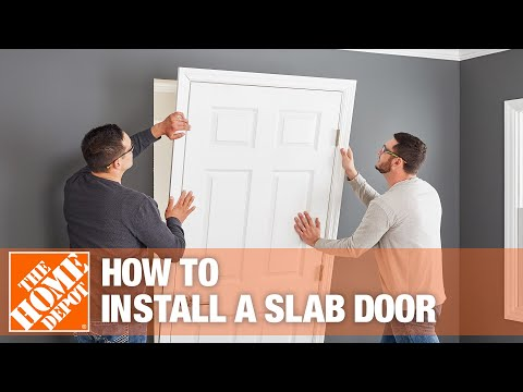 How To Install A Slab Door The Home Depot Youtube