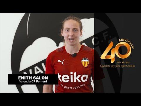 Els i les esportistes de València feliciten a la FDM   #40AnysAmbTu