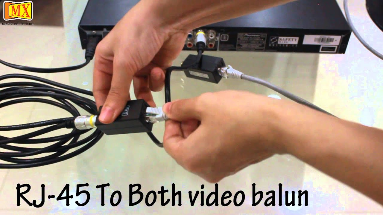 Rca To Rj 45 Video Balun