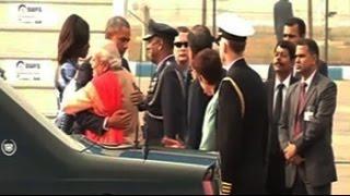 PM Modi greets Obama with hug