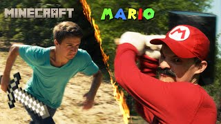 Live Action Mario vs Minecraft