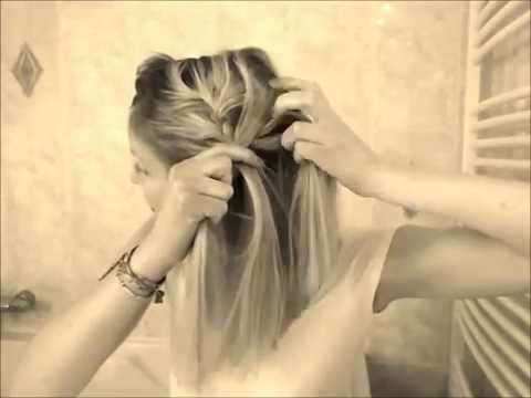 Cheveux au carré : la tresse sur le côté - YouTube