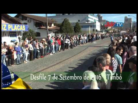 Desfile Cívico de Timbó reúne 6 mil alunos