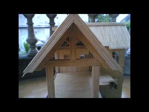 Mô hình biệt thự bằng tăm tre tuyệt đẹp  Mr Văn