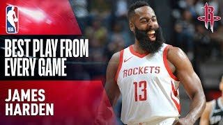 James Harden's BEST PLAY from Every Game | Houston Rockets 2017-2018
