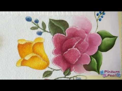 Como Pintuar en Tela Flores *Textile Paint* Manteles Individuales - Pintura Facil Para Ti