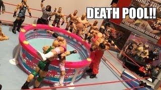 GTS WRESTING: Dead Pool! WWE Figure Matches Animation