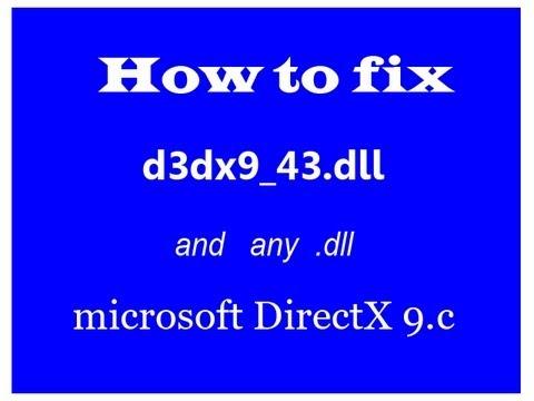 d3dx9 43.dll descargar windows 7