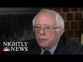 Senator Bernie Sanders: 'He Makes Me Very Nervous' On Donald Trump | NBC Nightly News