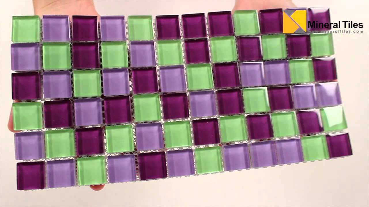 glass mosaic tile backsplash purple pop blend 1x1 101chiglabr211