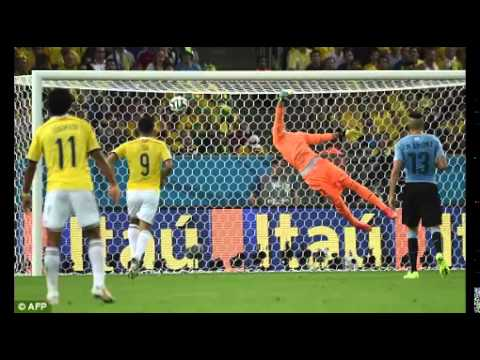 James Rodriguez Goal vs Uruguay - Crazy Colombian Commentary - World Cup 2014