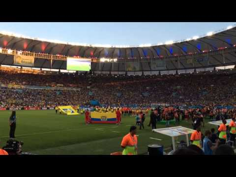 Ecuador Vs. France Teams Entering the Stadium World Cup 2014