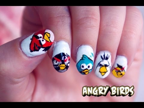Angry Birds Nail Tutorial