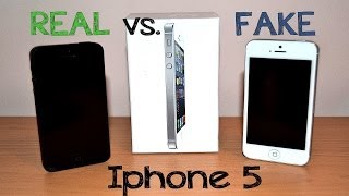 Real Vs Fake Iphone 5 Best 1:1 Copy China Clone Full