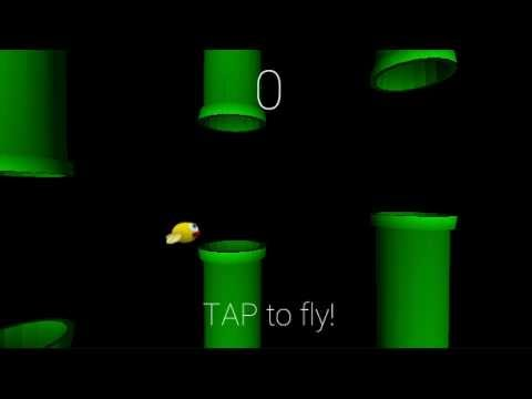gyroFlappy - Flappy Bird for Google Glass - Tap and turn your head