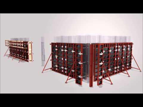 Как собираются щиты для опалубки стен — видео