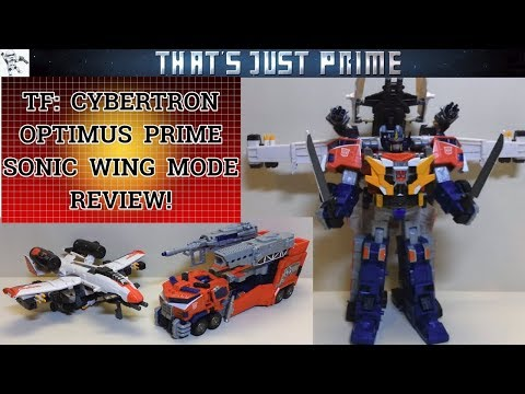 Transformers Cybertron Optimus Prime; Sonic Wing Mode Review!