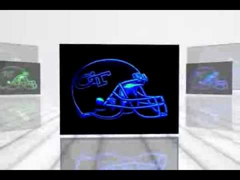 Georgia Tech Yellow Jackets American Football Neon Light Sign