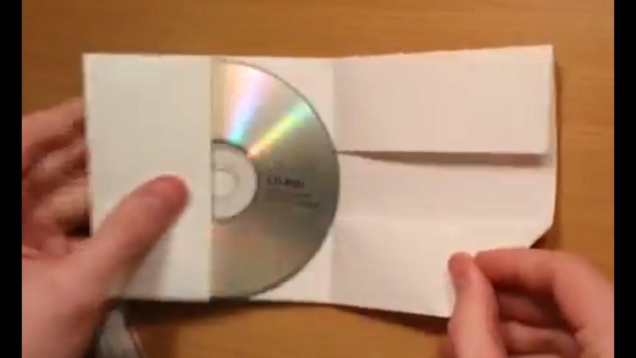 cr er une pochette cd avec une feuille a4 prot gez vos. Black Bedroom Furniture Sets. Home Design Ideas