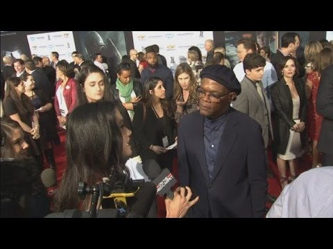Captain America: The Winter soldier premiere: Scarlett Johansson, Samuel L. Jackson & Chris Evans
