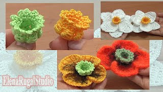 Crochet 3D Bellflower Tutorial 68 Part 1 Of 3 Center For