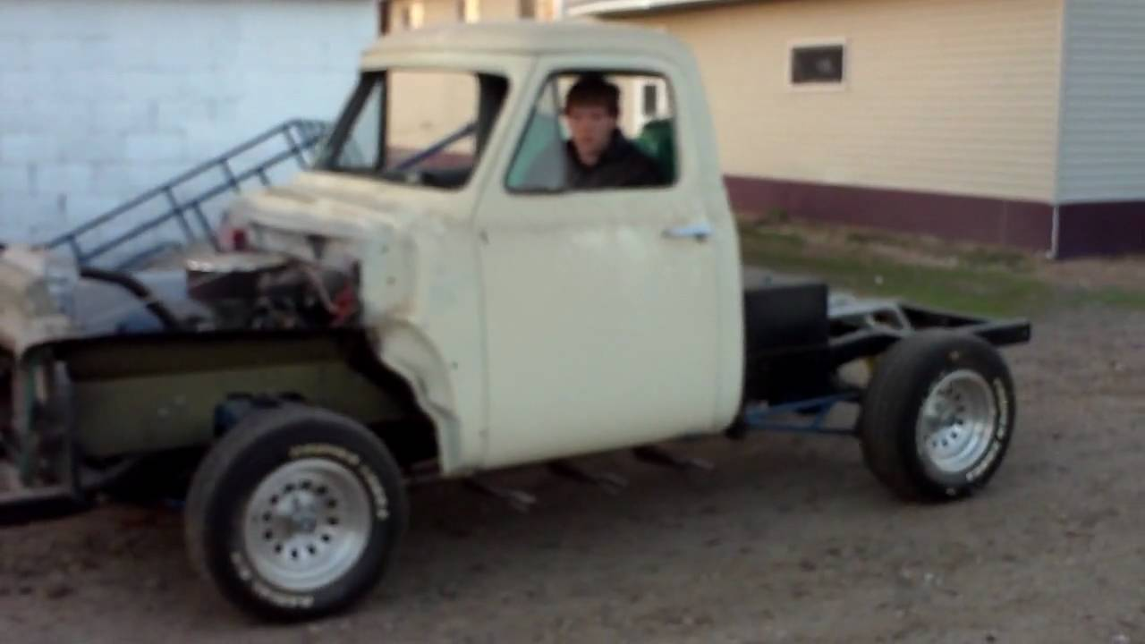 56 Ford F100 Street Rod Truck Project Part 2 Youtube 1955