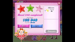 Candy Crush Saga Level 546 ★★ NO BOOSTER