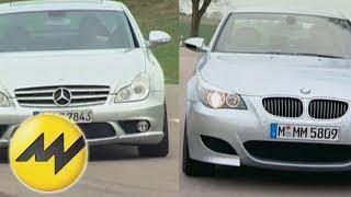 Vergleich BMW M5 vs. Mercedes CLS 55 AMG: Duell der Power-Limousinen videos