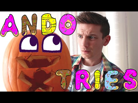 Ando Tries: To Carve A Pokemon Pumpkin!!
