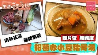 【抗疫湯水】粉葛赤小豆豬骨湯 - 清熱祛濕 健脾解毒 睇片做 ,無難度!
