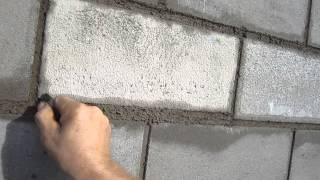 Расшивка швов цементно песчанных блоков