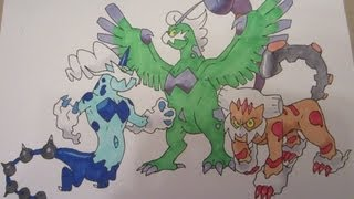 How To Draw Pokemon: No.641 Tornadus, No.642 Thundurus, No