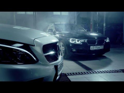 BMW 340i против Mercedes-Benz C450 AMG // анонс // шоу HOLYCAR