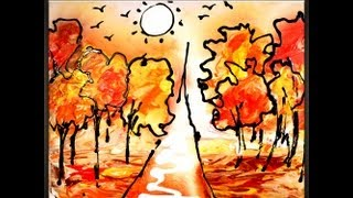 Painting Autumn Simple And Effective Abstract Art Painting