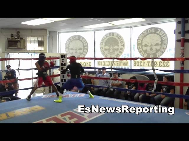 future stars sparring at westside boxing club in LA EsNews Boxing