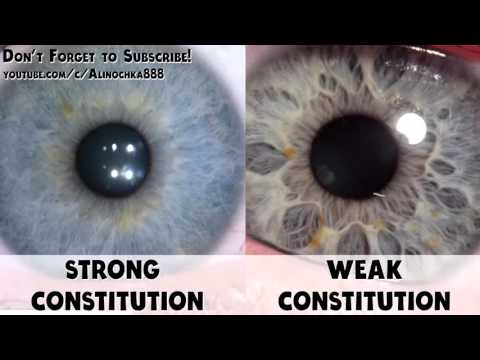 Iridology - Strong Constitution vs. Weak Constitution