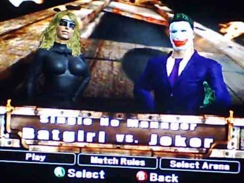WWE smackdown vs raw 2008 Batgirl vs Joker