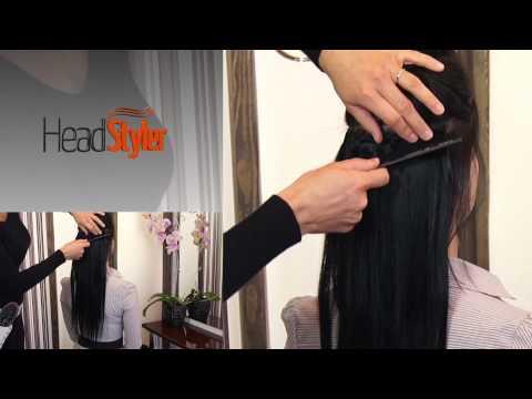 Przedłużanie włosów dopinkami Clip In 45cm, włosy naturalne Headstyler