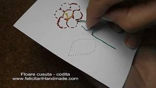 Felicitari Cusute Flori 2/5: Cum Sa Cosi Coada