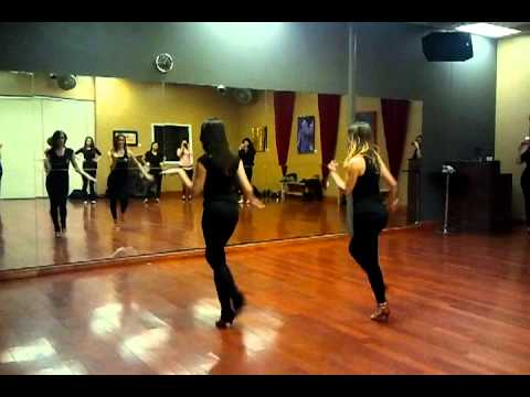Ladies Salsa Styling Bootcamp - sorry for music quality!