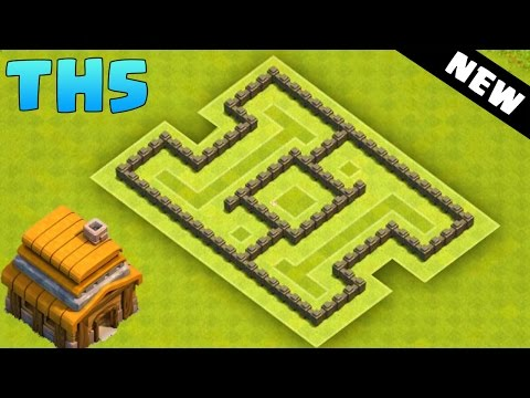 Clash of Clans - Town Hall 5 Hybrid Base (CoC TH5) BEST Defense Base Layout 2016