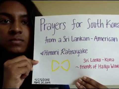 Prayers For Sewol Ferry Victims - South Korea [Sri Lanka & India]