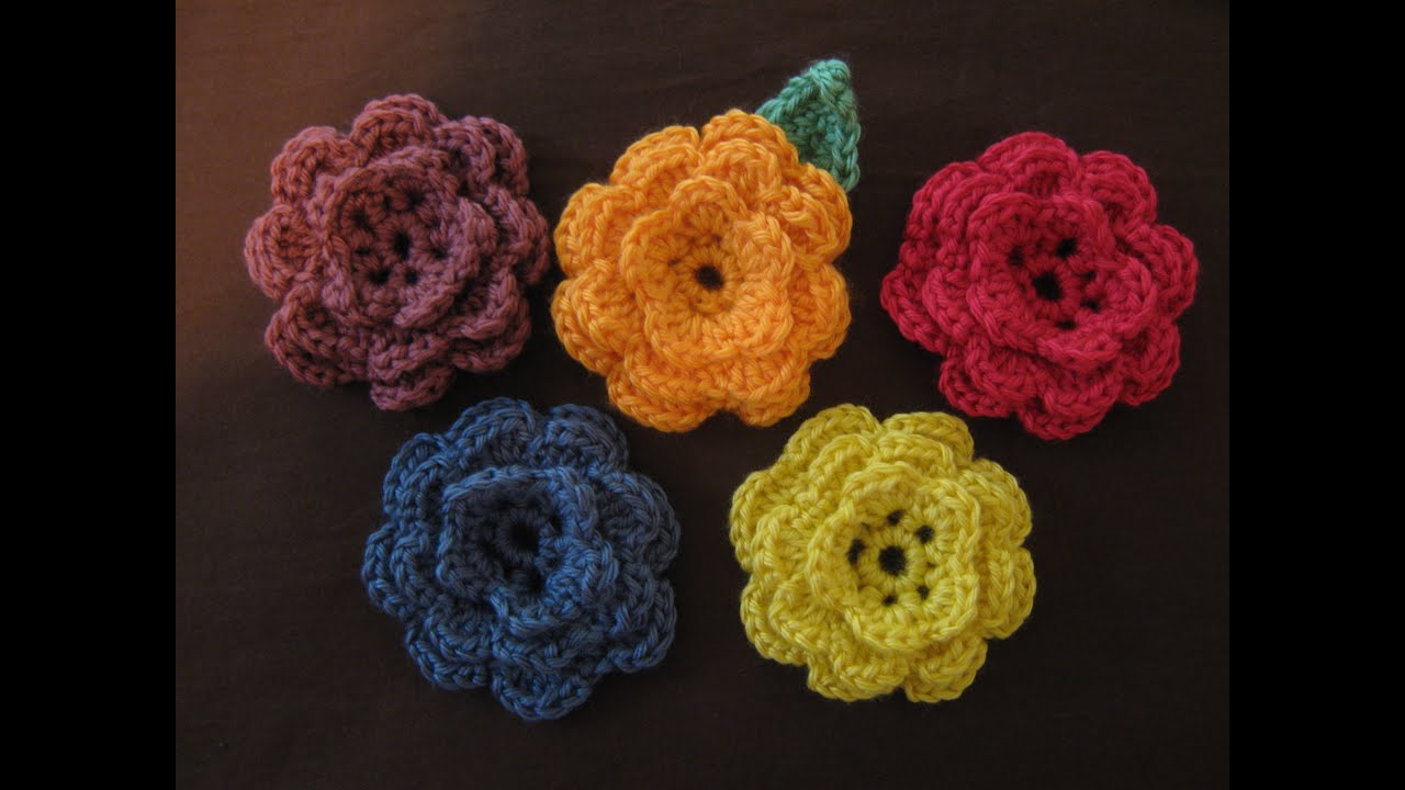 Crochet Flowers Patterns Youtube : How to crochet a flower, part 1 - YouTube