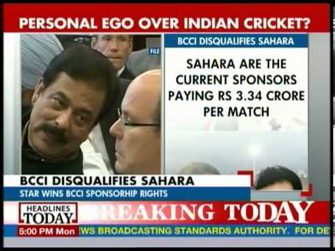 BCCI disqualifies Sahara as sponsor