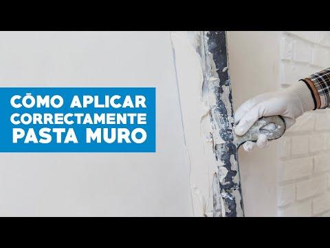 El correcto uso de la pasta muro