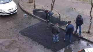 Nunca vi asfaltar uma rua assim!