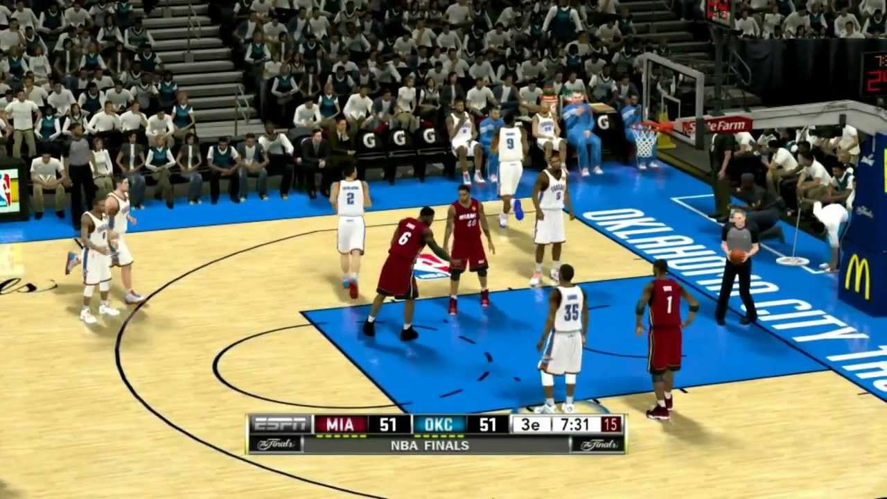 NBA 2K12 (NBA Finals 2012 Game 1 Miami @ Okc (Full)) - YouTube