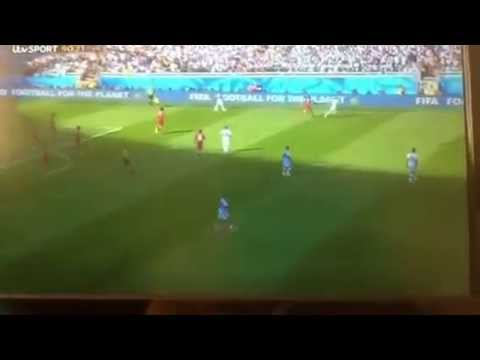 Lionel Messi Wonder Goal Argentina vs Iran 21/6/14 World Cu