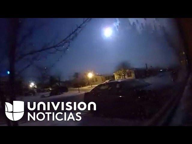VIRAL: Así se vio la caída de un meteorito que causó un temblor en Michigan